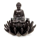 Buddha on Lotus Blessing Artisan Crafted Sculpture from Indonesia Statue