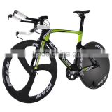 2016 carbon TT bike Full carbon time trial bicycle frame completed bike with disc wheels TT01