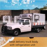 2016 new designing fast food refrigerated van truck ice cream delivery refrigerator van truck for sale