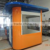 Customized size outdoor bubble tea kiosk for free design ice cream kiosk /frozen yogurt kiosk design