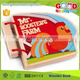 EN71/ASTM Confirmed New Design Wooden Farm Wooden Book OEM/ODM China Factory Toy for Baby                                                                         Quality Choice