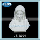 White marble female bust statue