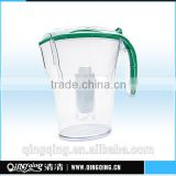 Wholesales BPA-FREE Alkaline water Filtration Pitcher/jug/jar/kettle/cup,Model:QQF-04,Capacity:3.5L,Color:Selectable