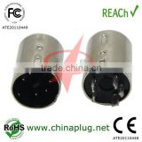 Mini din male of 5 pin din connector with nickel plated din 5p male connector