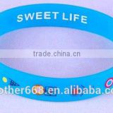 Wholesale cheaper silicone custom bracelet for advertising