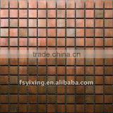 Copper mosaic floor tiles, wall tiles for house design, metal mosaic tiles for interior,outer wall and floor decoration MS36