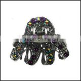 Crystal Jaw Clip for Thick Hair metal black jaw clips