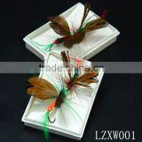 pheasant feather plumage fly fishing lure pin hook LZXW001