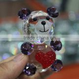 hot sale bear figurine for romantic crystal love gift