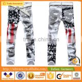Dolpind Men's American Flag Print Denim Jeans, Fashion Apparel, Customize Clothing                                                                         Quality Choice