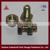 Hex Head M24 bolts and nuts Rainbow Plating From China Screw Factory