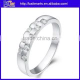 Wholesale 925 sterling silver bezel setting band ring,silver promise rings for men