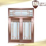 Villa exterior copper door security entry front glass bronze window                                                                         Quality Choice