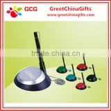 Promotion plastic table ball point pen with metal string                                                                                                         Supplier's Choice