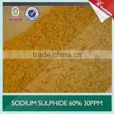 High quality red or yellow sodium sulphide 60% 30ppm for mining, leather,paper making,tanning, textile, chemicals