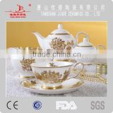 export bone china color glazed enamel crockery porcelain ceramic coffee set manufacturing