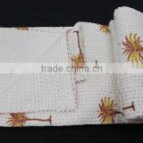 Hand Work Kantha Quilt,Anokhi Design Home Decorative Hand Block Print Wholesale Jaipuri Indian Bed Cover Custom Design