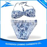 Color Print Young Sexy Girls Swimwear Hot Open Women Swimwear 2016 Hot Sex Lady Bikini Triangle Bikini
