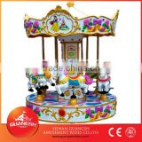 Attractive children play games coin operated kiddie rides for sale musical small carousel