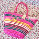 2016 Beautiful Top Qulality Customized Raffia make Straw summer Bags for Beach