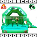 high quality Shaun the Sheep inflatable bouncy castle slide outdoor sport equipment price for sale