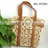 WL-PC004 100% Natural Straw Summer Beach Bag For Women
