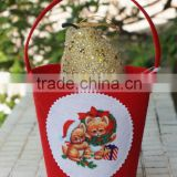 felt Christmas pet food containers