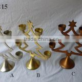 Aluminum Christmas Candle Holder/Advent Candle Holder/Copper candle holder.