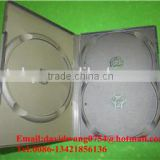 14mm Black 3discs dvd case with smooth Film