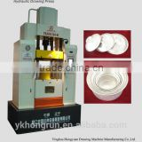 YSA 85T Four-column Double Action Hydraulic Drawing Press Machine for produce alunminum products
