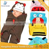Four Animal Designs Baby swaddle fleece blanket                                                                         Quality Choice