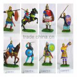 Metal Painting Knight Armor, Colored Soldier Figurines, Painted Warrior