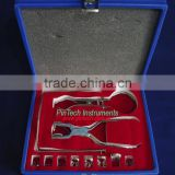 Dental Rubber Dam Instruments Kit in Wooden Case