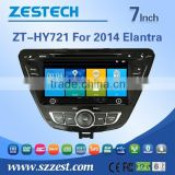 car entertainment system in dash dvd car navigation for hyundai elantra 2014 with gps navigation car autoparts