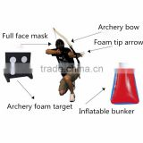 Archery Equipment Bunker Arrow With Screw In Larp Head High Quality