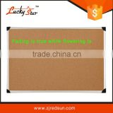 zhejiang Wholesale aluminum framed cork bulletin board with plastic/zinc back/Double Sided 80*120