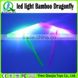 summer hot sales led flash bamboo dargonfly plastic kids toys