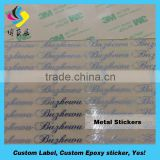 High Quality nickel adhesive brand logo label sticker Accept Paypal metal license plate frame