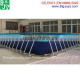 Europe popular Good quality Mini Outdoor Metal Frame Pool,Rectangular Above Ground Swimming Pool