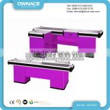 Hot Sale Automatic Electric Checkout Counter with Conveyor Belt in Modern Style for Supermarket