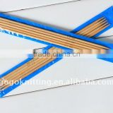 Double pointed bamboo knitting needles