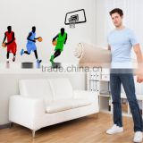 "Large 160x110cm (63""x43"") Basketball Wall Stickers Sport Decal Glass Window Decor DIY Quality SGS Removable PVC Mixable JM7263"
