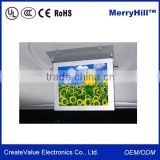 Roof Mounting / Back Hanging 15, 17, 19, 21.5 Inch Bus LCD TV Advertising Screen For Vehicle