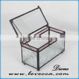 New product 2016 indoor decorative brass wedding table centerpiece glass box