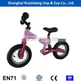 high quality light weight EU standard 10/12 inch kids balance bike/running bike with air tire