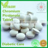 300 mg ISO GMP Certificate and OEM Private Label Chromium Picolinate Tablets