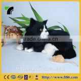 Perfect sculpture Children's toys sanimal model fur animals animated plush toys black cat