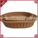 S&D The cheap rattan handmade laxury oval wicker empty fruit basket , wooden fruit crates for sale
