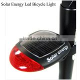 solar energy led bicycle light front tail light bicycle light led rear light warning bicycle light