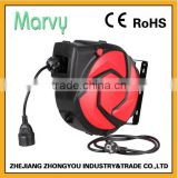 Metal wall mounted electric spring cable reel ,Europe Socket.